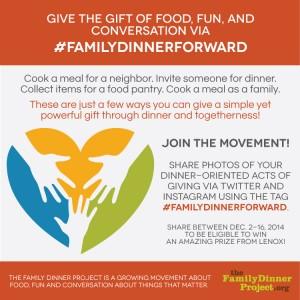 The #familydinnerforward project