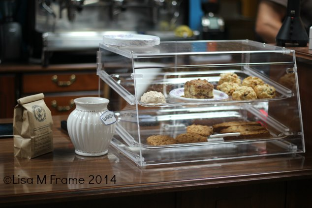 Pastries and gratuities at Small Town Coffee Roasters in Rutherfordton, NC