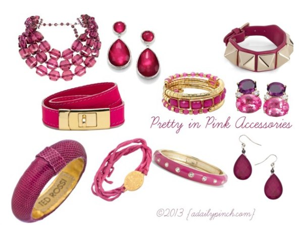 Pretty In Pink Fashion Accessories A Daily Pinch